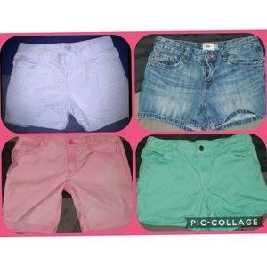 Girls size 14 shorts lot